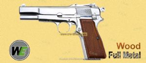 Browning Hi-Power M1935 GBB Pistol (Chrome Silver) by WE